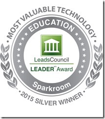 LeadsCouncil LEADER Award Most Valuable Technology 2015 Silver Winner