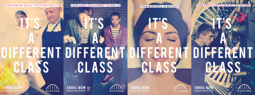 Newcastle College - It's a Different Class Campaign