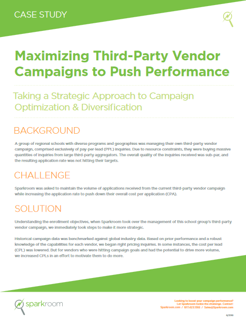 Maximizing Third-Party Vendor Campaigns