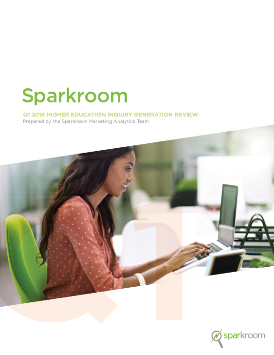 Sparkroom Q1 2016 Higher Education Inquiry Generation Review