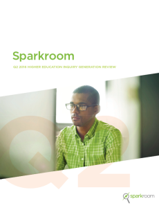 Sparkroom Q2 2016 Higher Education Inquiry Generation Review