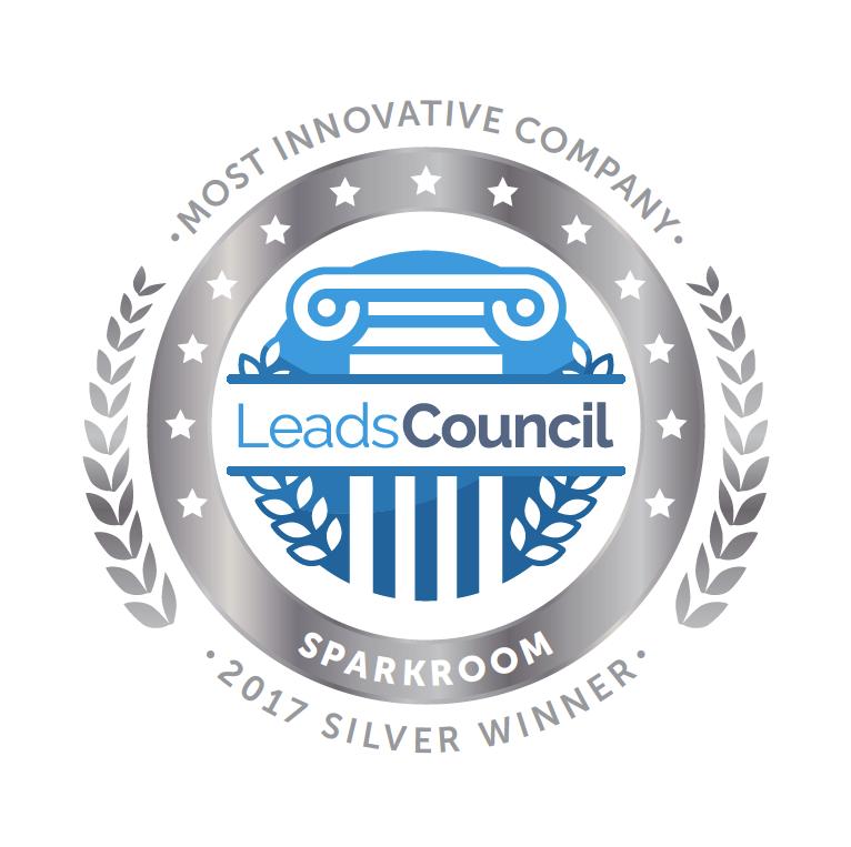 Sparkroom Silver 2017 LeadsCouncil LEADER Award - Most Innovative Company
